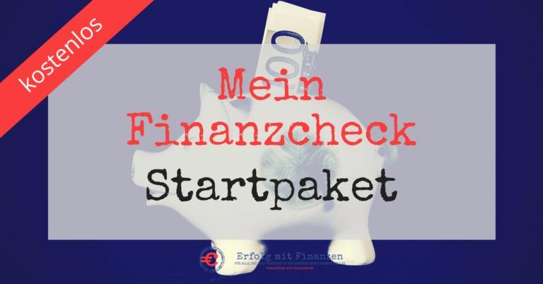 Erfolg mit Finanzen - Mein Finanzcheck Startpaket